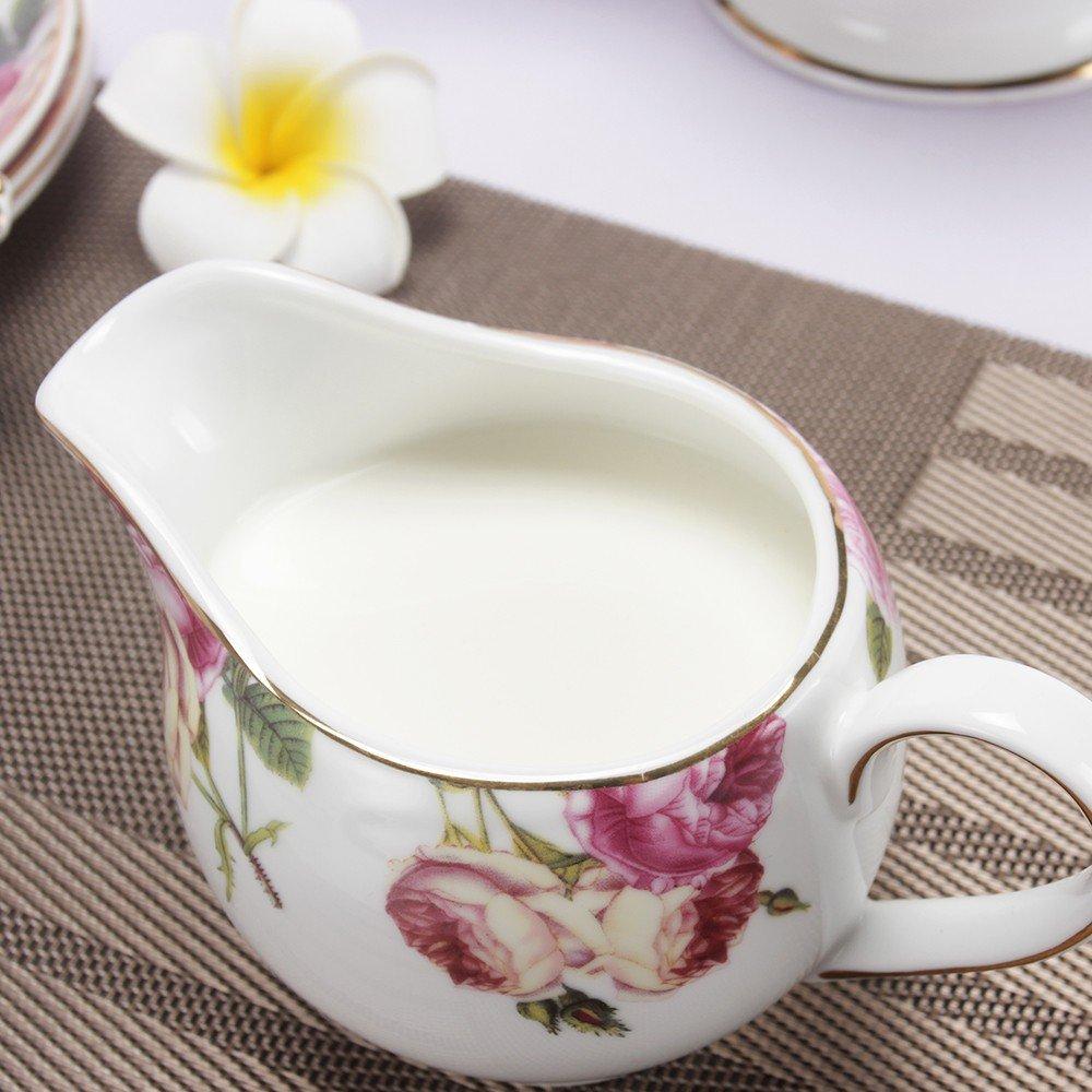 Porlien Tea Set, Rose Camellia, Porcelain Gift Set (6 teacup sets with teapot) by Porlien (Image #5)