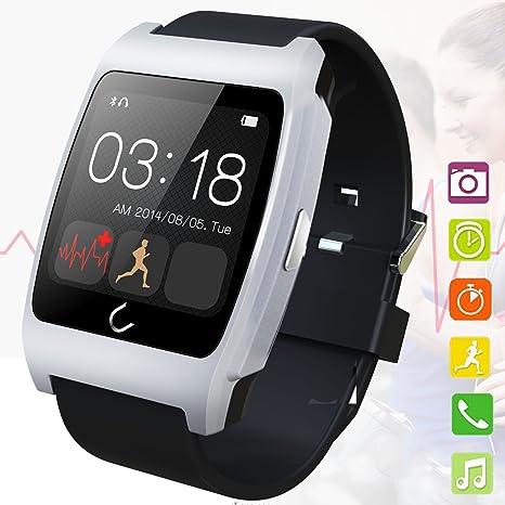 Salud UX Smart bluetooth reloj con Monitor de frecuencia cardiaca notificación a distancia podómetro para IOS Android ...