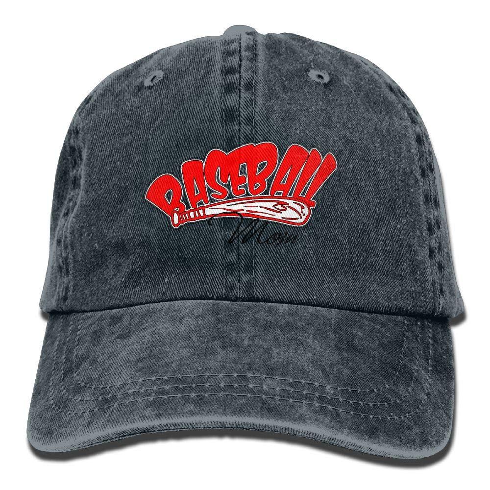 LETI LISW Baseball MomWashedDenim Cap Adult Unisex Adjustable Cap