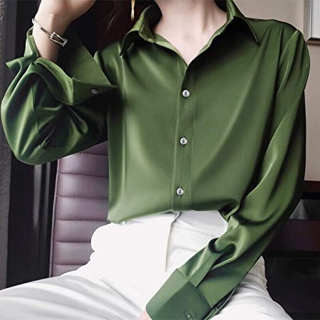 Blusa Blusa Camisa De Talla Grande para Mujer Camisa De Manga ...