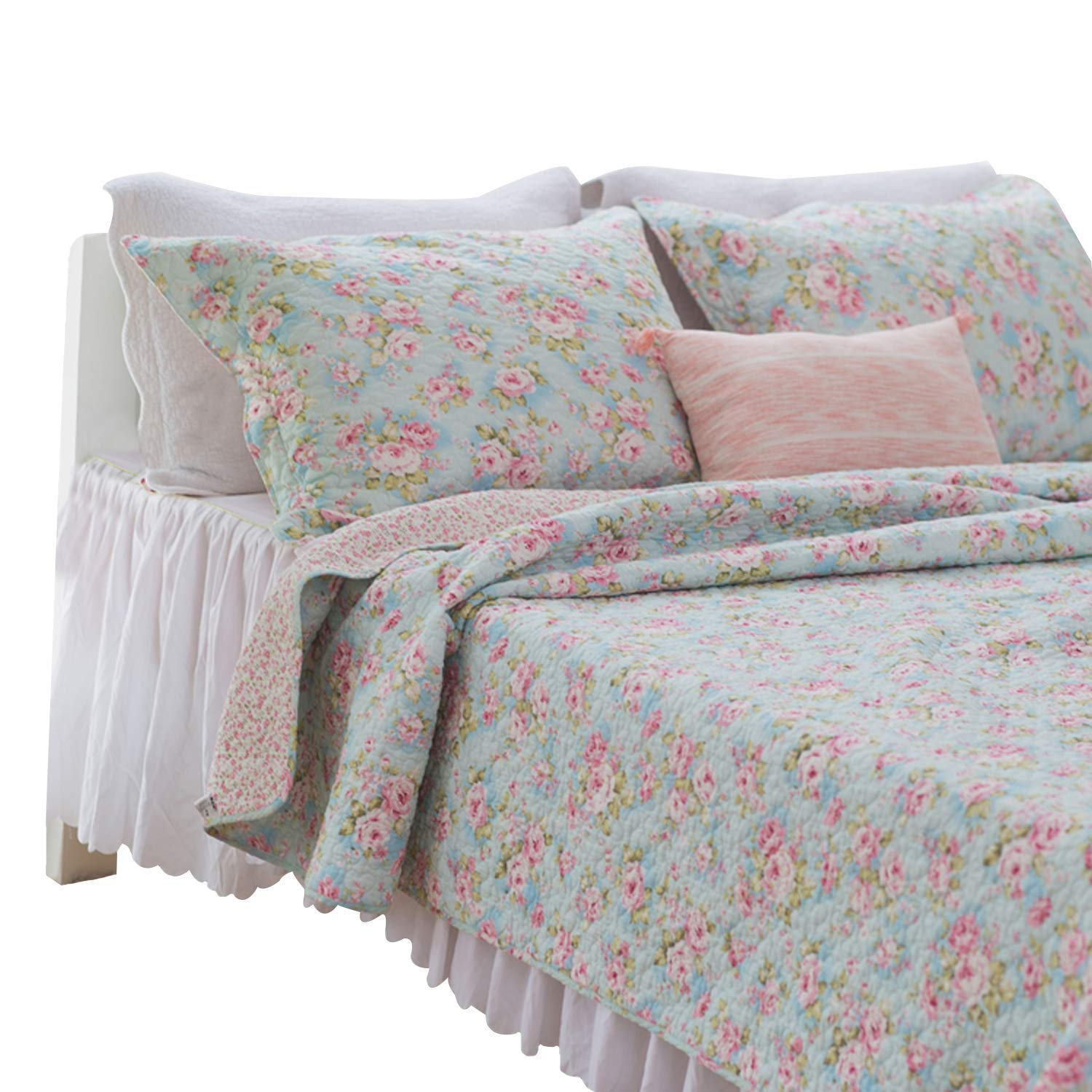 Amazon Com Brandream Romantic Rose Floral Bedding Set Girls Quilt