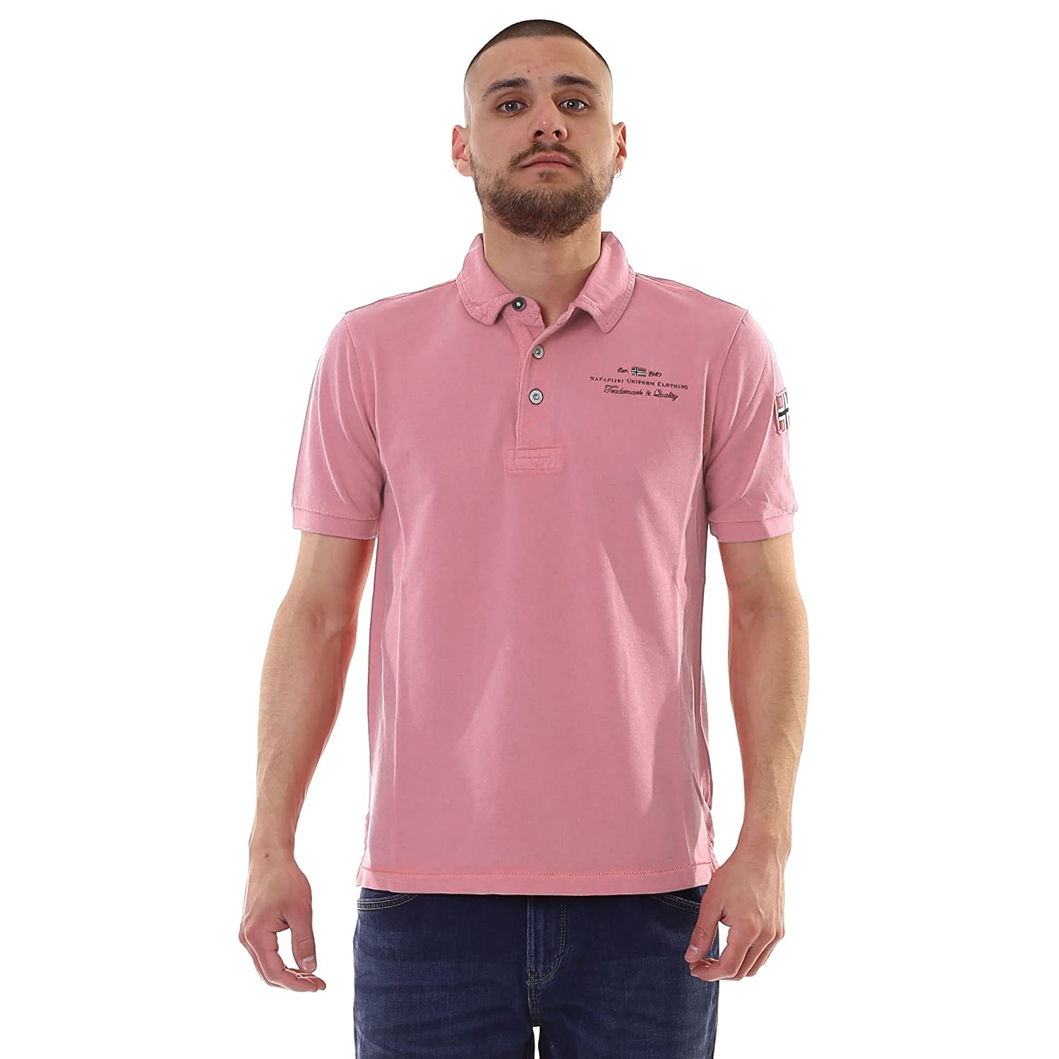 Napapijri ELBAS STRETCH DUSTY ROSE Polo, Rosa: Amazon.es: Deportes ...