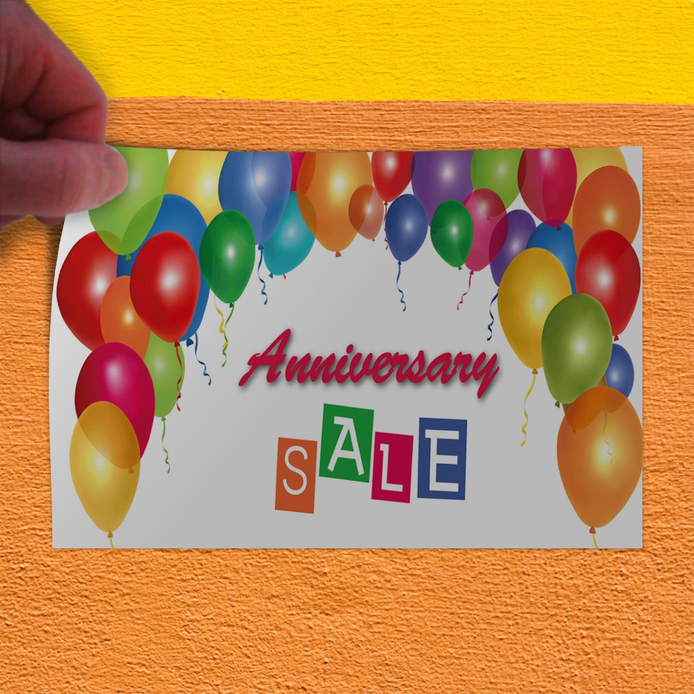 Decal Sticker Multiple Sizes Anniversary Sale #1 Style D Business Anniversary Sale Outdoor Store Sign White 27inx18in Set of 5