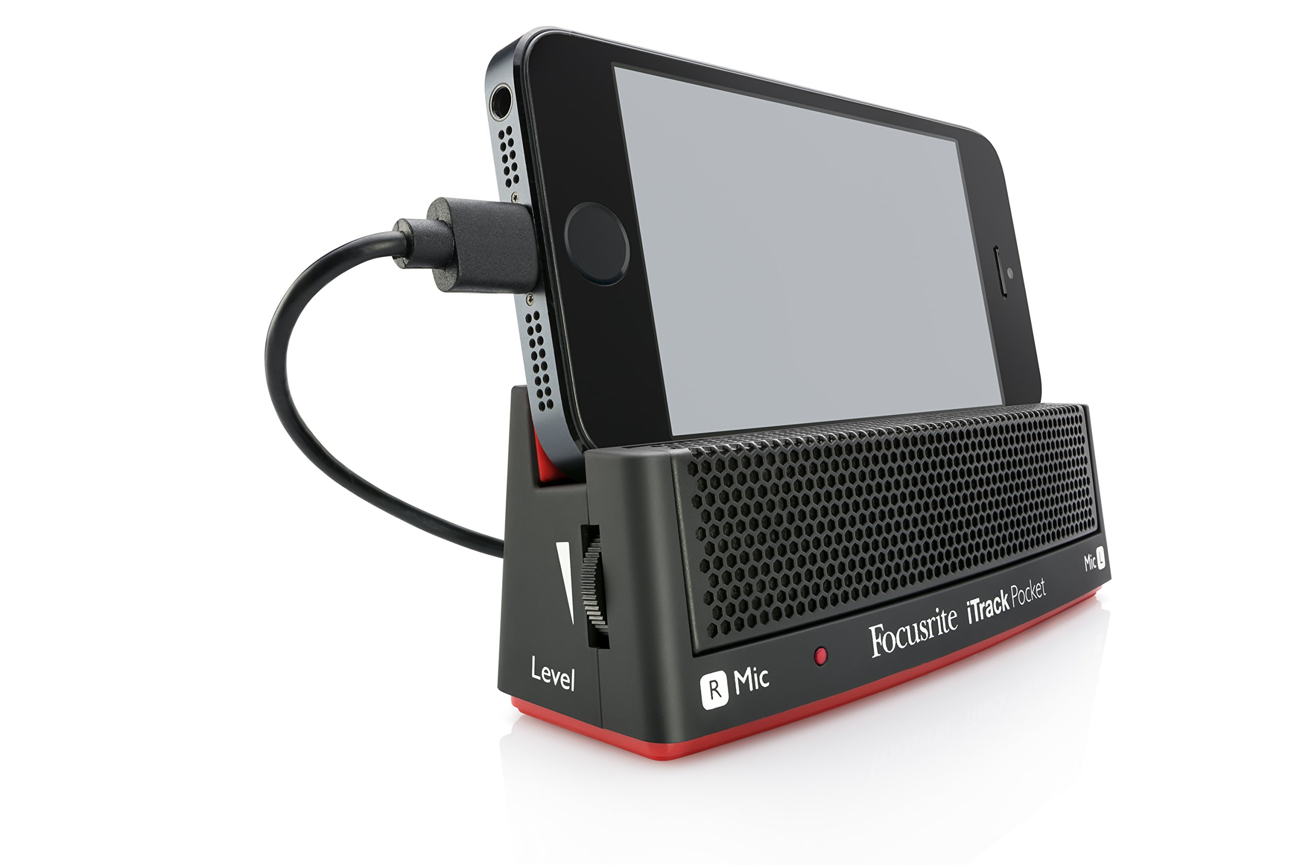 Focusrite iTrack Pocket Portable Stereo Microphone and Guitar Input for iPhone Video Creation and Sharing by Focusrite