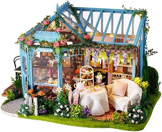 Casa de bricolaje Regalos DIY miniatura Sala Modelo Set-Woodcraft ...