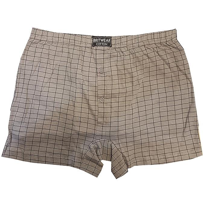 2 opinioni per Biancheria da uomo Britwear®, boxer di 100% cotone, con apertura a bottoni, set