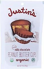 Justin's, Mini Peanut Butter Cups, Milk Chocolate, 4.7 oz