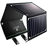 RAVPower Solar Charger 16W Solar Panel with Dual USB Port Waterproof Foldable for iPhone X, 8 & 8 Plus, iPad Pro Air 2 mini, Galaxy S8 S7 S6 Edge Plus, Note 5 4, LG, Nexus and Camping Travel