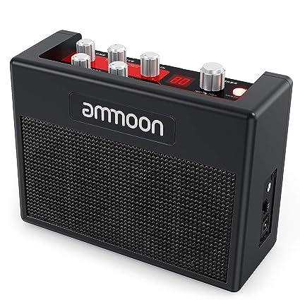 Ammoon Amplificador de guitarra eléctrica portátil amplificador de ...