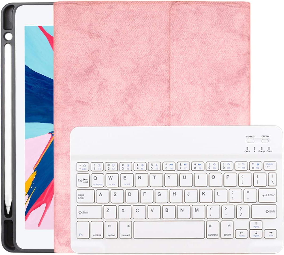 Funda Con Teclado Para iPad 2018/2017 iPad Air 1/2 9.7 rosa