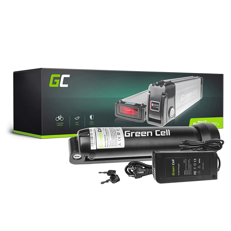 GC/® Bater/ía E-Bike 36V 14.5Ah 522Wh Rear Rack para Bicicleta El/éctrica con Celdas Panasonic