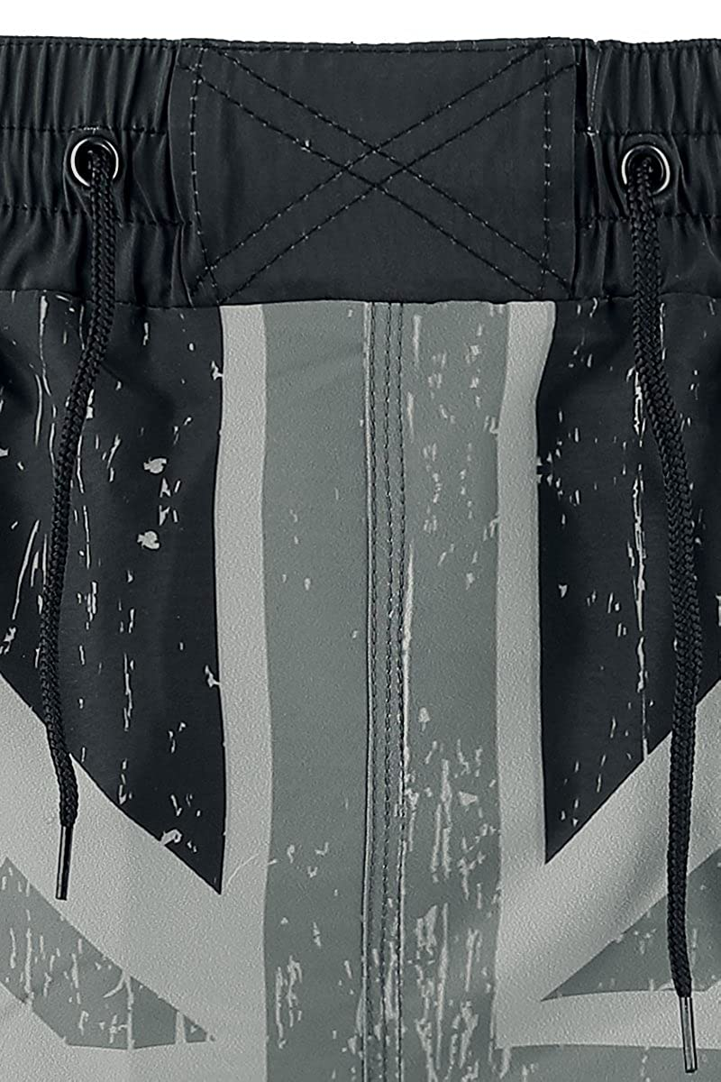 5b6c28cfa0 Brandit Swimshorts Union Jack Swim Trunks Grey-Black XXL-3XL: Amazon.co.uk:  Clothing