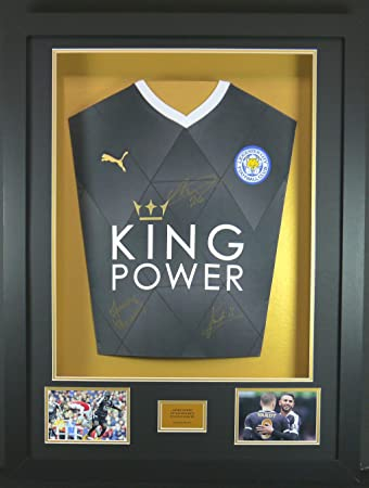 VARDY, mahrez und Kante Leicester City SIGNED Shirt, 3D-Rahmen ...