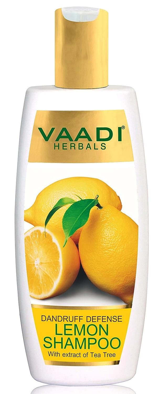 Vaadi Herbals Dandruff Defense Lemon Shampoo with Extract of Tea Tree, 350ml
