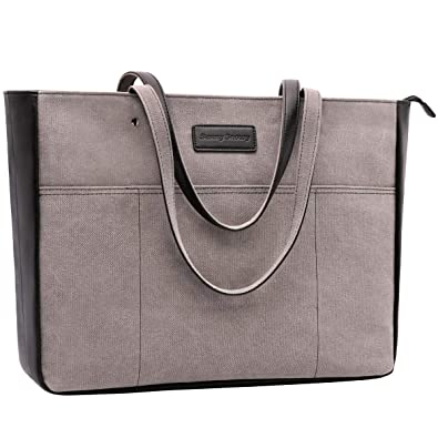 ab9bae6a2d Amazon.com: Laptop Tote Bag,Women 13-15.6 Inch Laptop Bag for  Work,Lightweight Canvas Tote Bag Office Briefcase(1.Black): Shoes