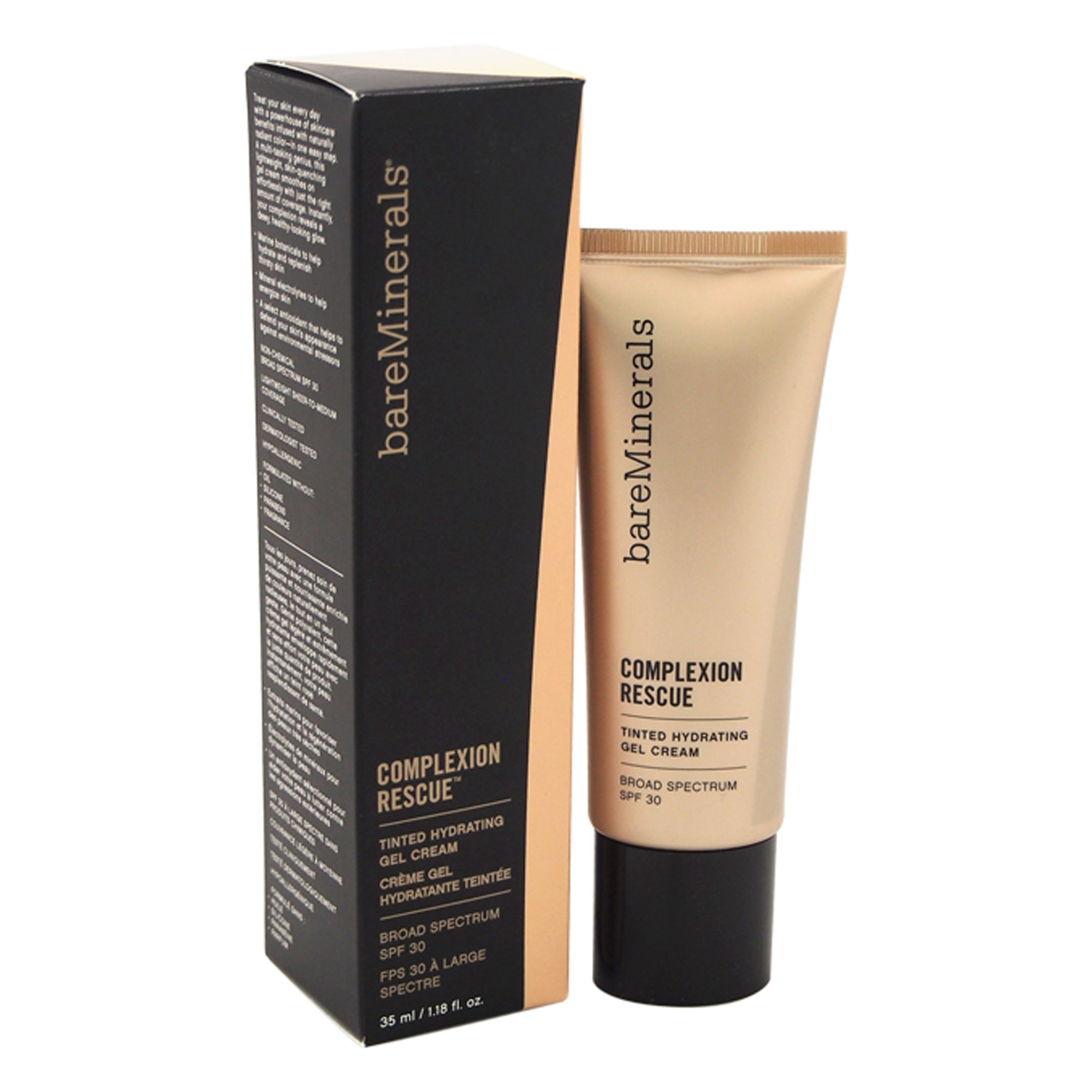 bareMinerals Complexion Rescue Tinted Hydrating Gel Cream SPF 30, Vanilla 02, 1.18 Ounce
