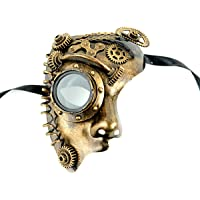 mask-it Oro Punk de vapor mitad cara