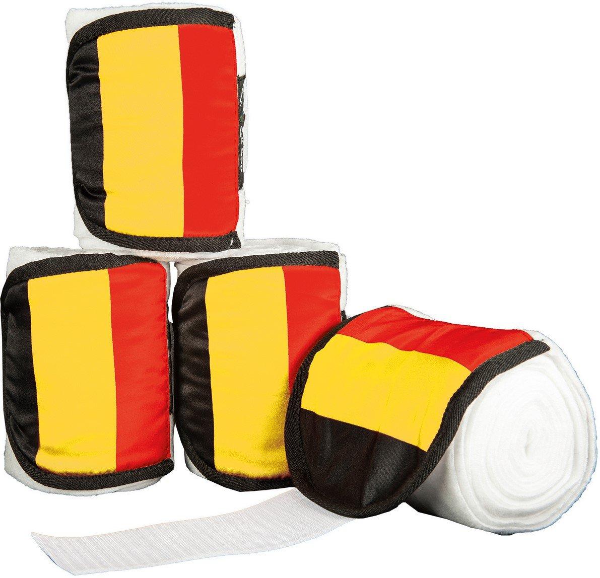 HKM Bandages en Polaire pour Chevaux Drapeaux, Lot de 4