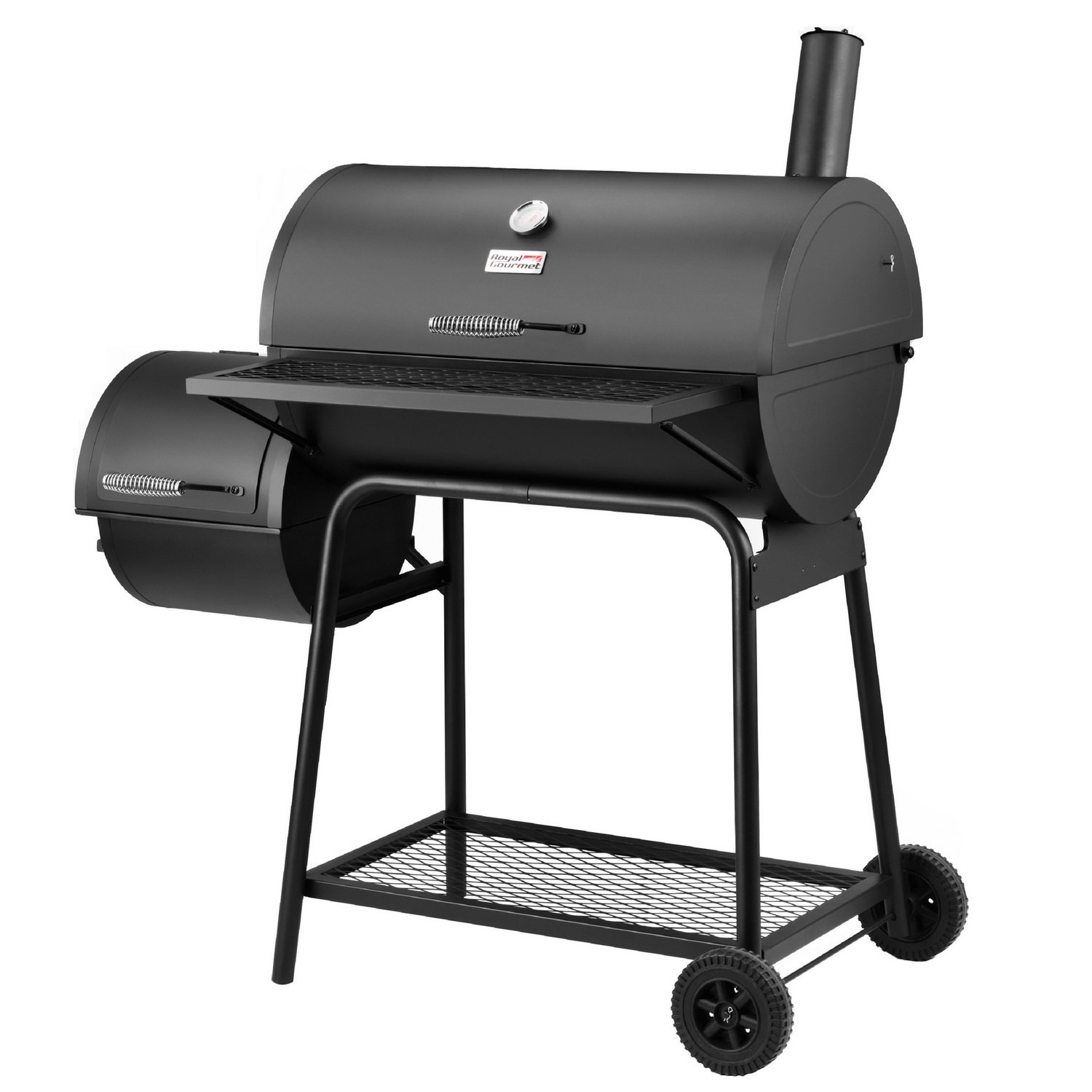 amazon com royal gourmet charcoal grill with offset smoker 30