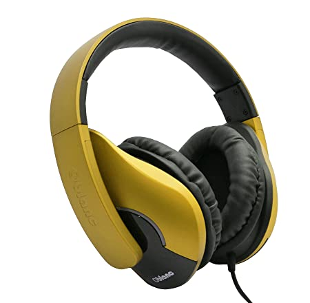 Oblanc OG-AUD63070 SHELL200 Stereo Headphones with in-line Microphone - Gold Headphones at amazon