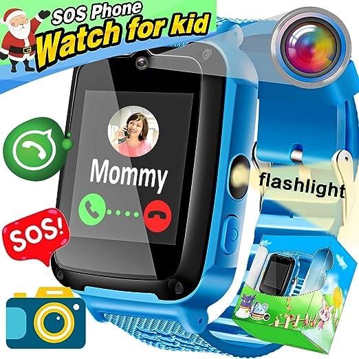 Kids Smartwatch Phone, Amenon Smart Watch para Niños Niños Chicas Vacaciones Regalos de cumpleaños SOS Tracker Fitness Tracker con Llamada Reloj Despertador ...