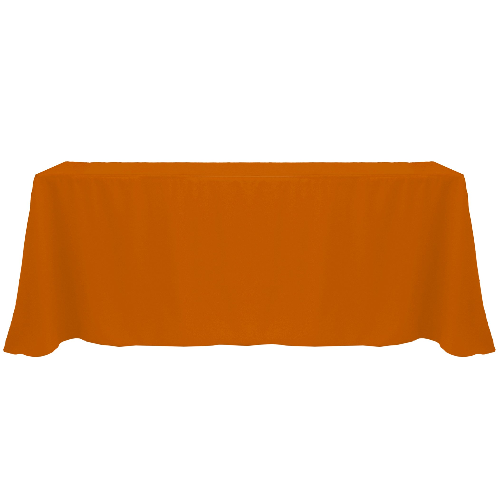 Ultimate Textile (20 Pack) 90 x 132-Inch Rectangular Polyester Linen Tablecloth with Rounded Corners - for Wedding, Restaurant or Banquet use, Burnt Orange by Ultimate Textile (Image #2)