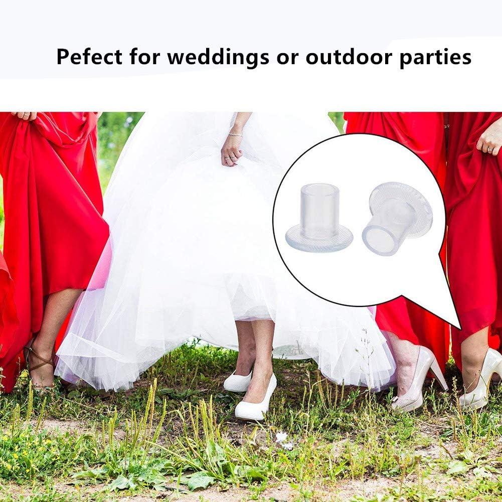 Sassi Proteggono da Erba Protezione per Tacchi,Proteggi Tacchi Copertura con Tacco a Spillo per Scarpe da Donna Risparmiatori di Tacco,Perfetti per Matrimonio,Eventi Formali S//M//L