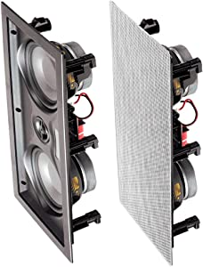 """OSD Audio 150W 5.25"""" in-Wall LCR Speaker – Center Channel with Dual Woofers – IW525"""