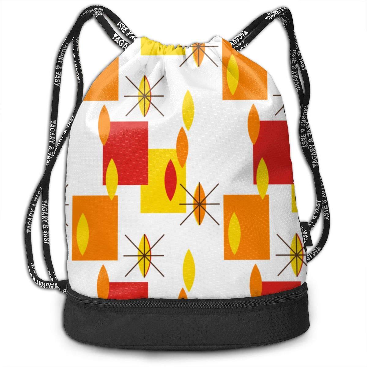 Summer Rain Drawstring Backpack Sports Athletic Gym Cinch Sack String Storage Bags for Hiking Travel Beach
