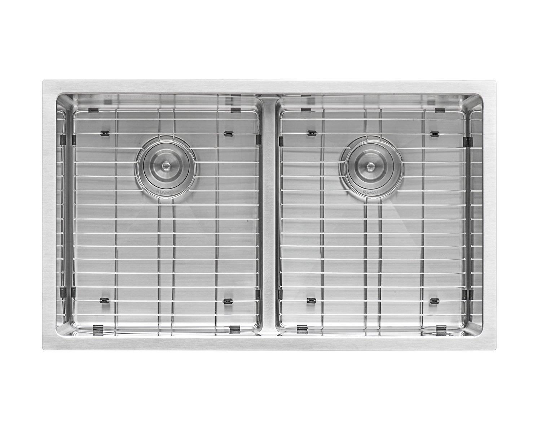 Ruvati 32-inch Low-Divide Undermount Tight Radius 50/50 Double Bowl 16 Gauge Stainless Steel Kitchen Sink - RVH7411 by Ruvati (Image #5)