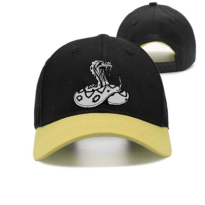 6d122dc562d Man Cobra Logo Black and White Baseball Cap Snapback Hats at Amazon ...