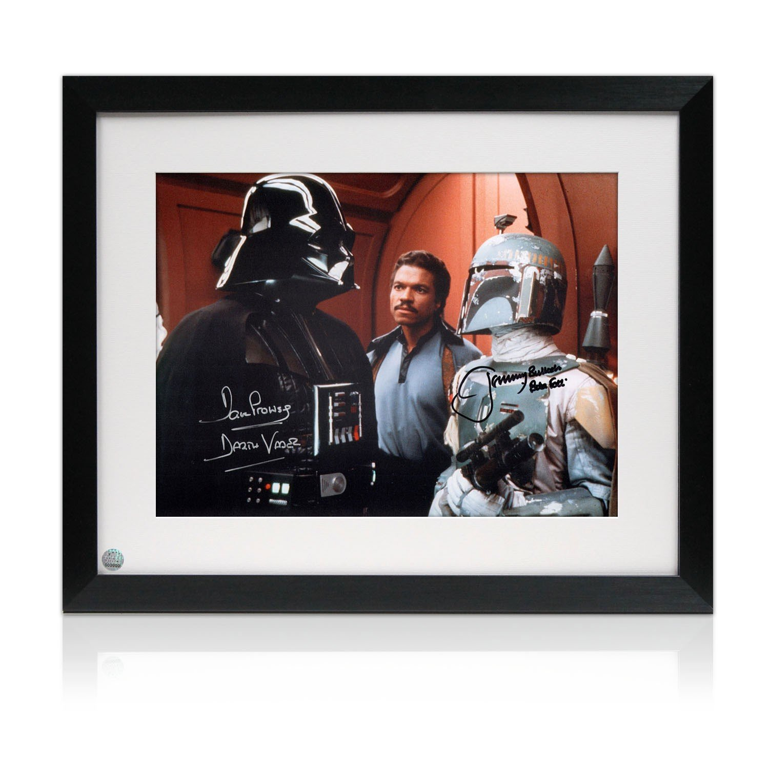boba fett und darth vader signed gerahmtes foto jetzt kaufen. Black Bedroom Furniture Sets. Home Design Ideas