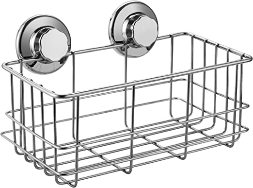 Kitchen Bathroom Basket Wall Storage Suction Soap Holder Organizer Bath Rack New
