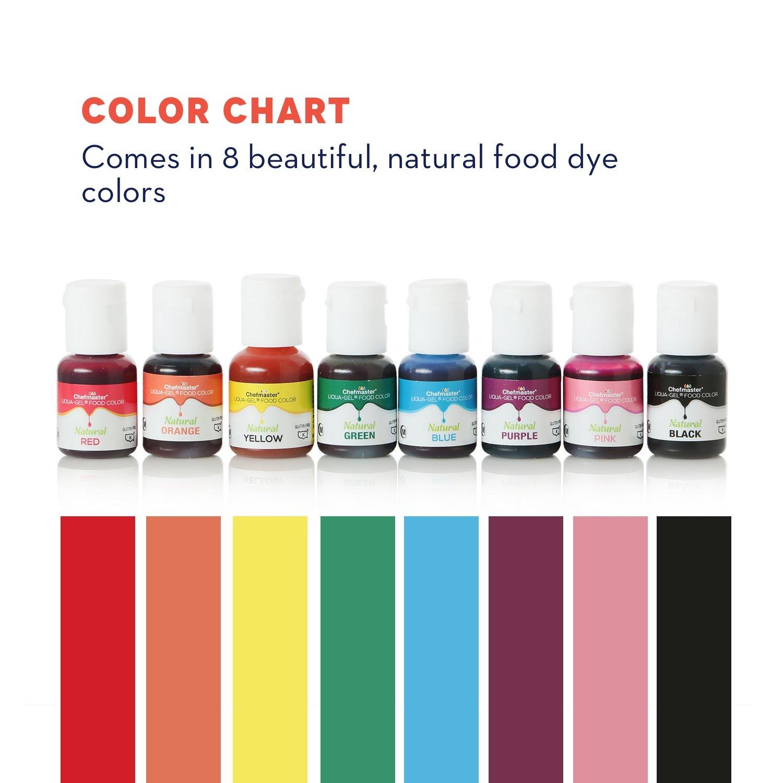 Amazon Chefmaster 8 Pack Natural Food Coloring Vegan