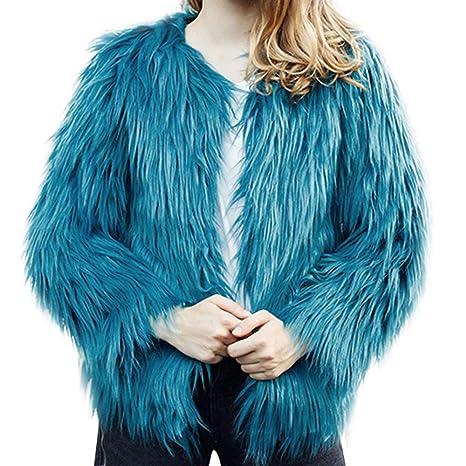 Gobing - Chaqueta de Invierno para Mujer (imitación, Color ...