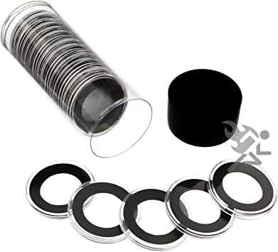 Air-tite 27mm Black Ring Coin Holder Capsules for 1//2oz American Gold Eagles 10