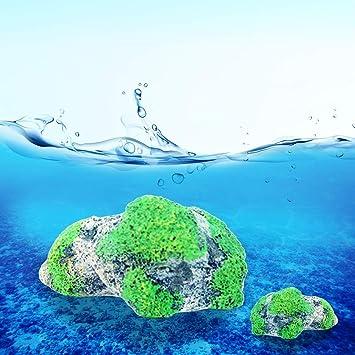 Xiaochou@sl Acuario Decoración Refinamiento Piedra pómez Piedra suspendida Peces Artificiales Acuarios Moss Flying Ornamento acuático Paisaje, Tamaño Medio: ...