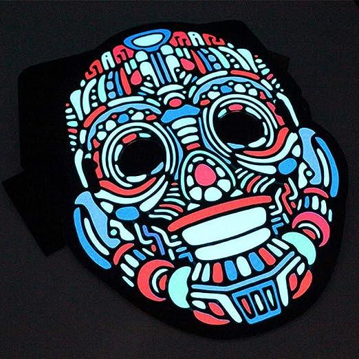 GUAN Máscara de Sonido de película de luz fría Máscara de luz de ...