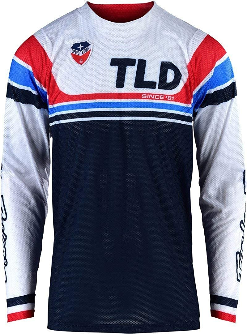 Troy Lee Designs Mens Offroad Motocross SE AIR Seca Jersey Small, White//Dark Navy