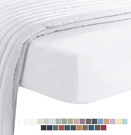"""SINGLE BED FITTED SHEET OFF CREAM IVORY 14/"""" DEEP 800 THREAD COUNT 100/% COTTON"""