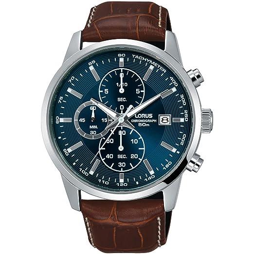 LORUS RELOJ DE HOMBRE CUARZO 42MM CORREA DE CUERO CAJA DE ACERO RM337DX9: Amazon.es: Relojes