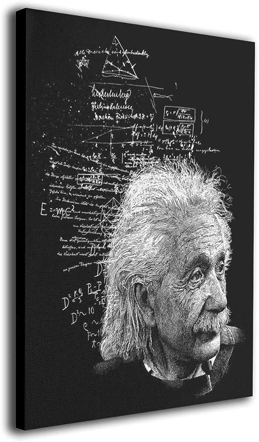 ALBERT EINSTEIN TEACHING SIGNATURE PORTRAIT CANVAS GICLEE POSTER ART PRINT