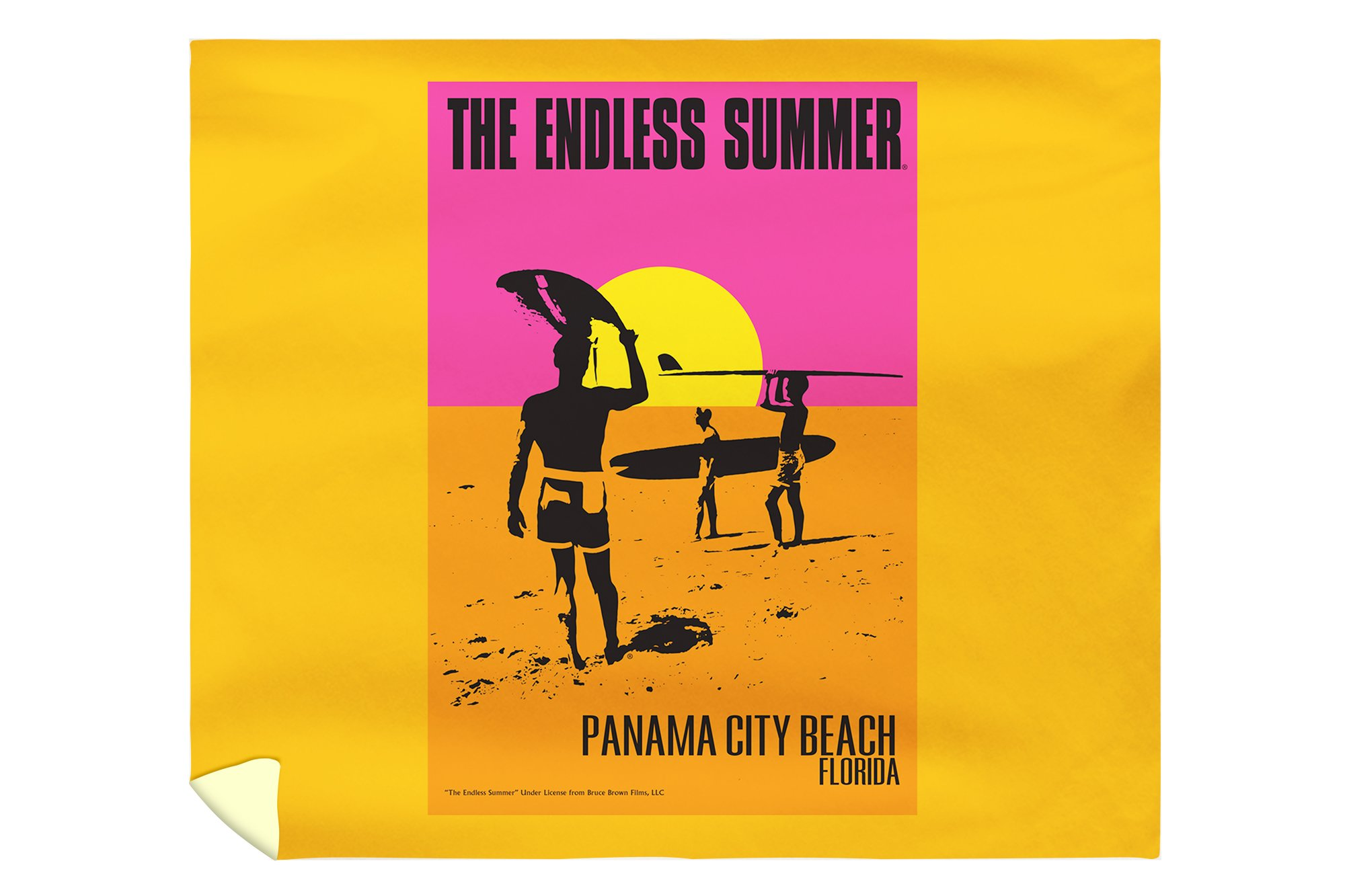 Panama City Beach, Florida - The Endless Summer Movie Poster (88x104 King Microfiber Duvet Cover)