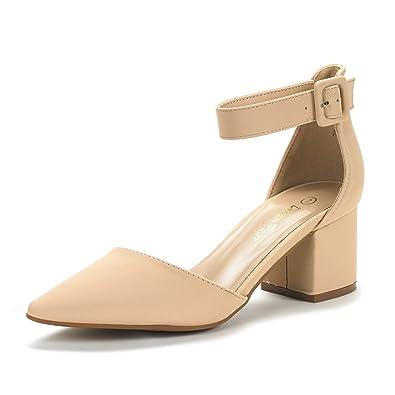 DREAM PAIRS Women's Annee Low Heel Pump Shoes Pumps 2KFRY99DJ