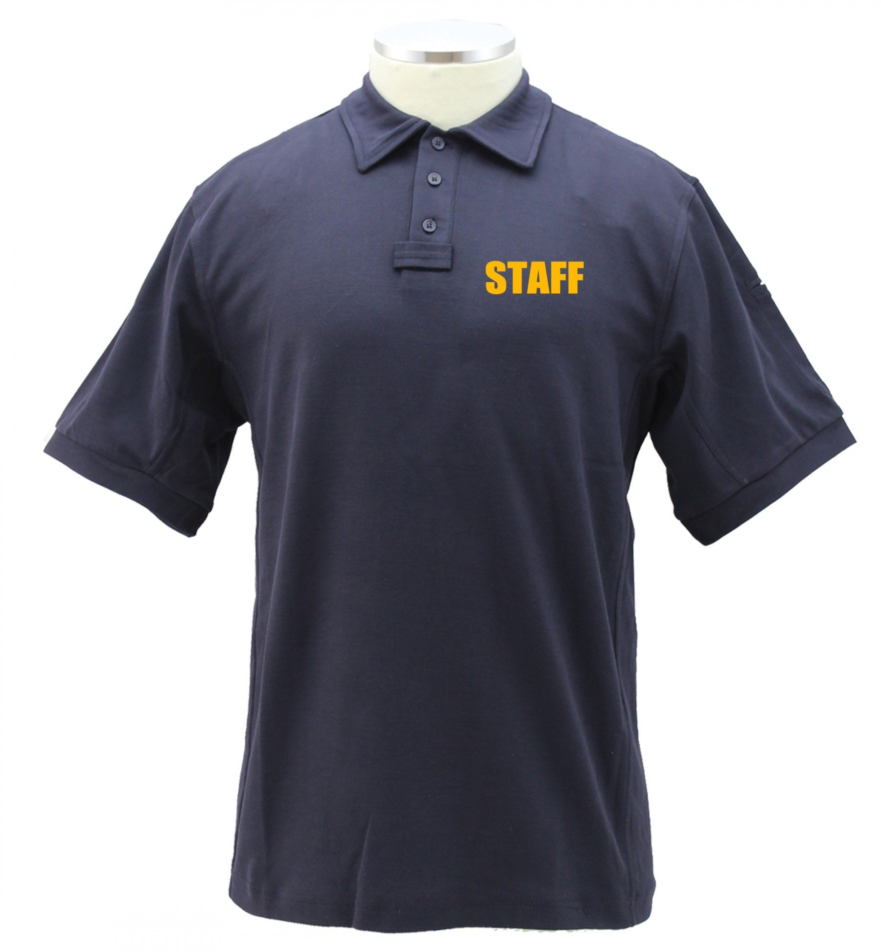 First Class Poly/Cotton Tactical Performance Staff Polo Shirts (3X-Large, Navy Blue/Gold)