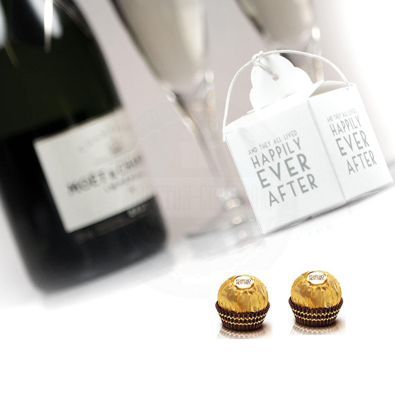Amazon.com : Fererro Rocher Ferrero Rocher Wedding Favour Boxes X 50 ...