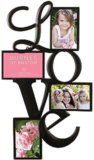 burnes of boston 545840 metal love collage frame 2 4x6 2