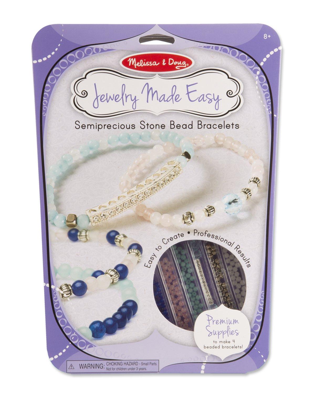 Melissa & Doug Jewelry Made Easy Semiprecious Stone Bead Bracelet-Making Set Melissa and Doug 9475