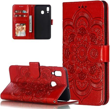 Hmtech Galaxy A30 Hülle Für Samsung Galaxy A20 Handyhülle Prägung Mandala Blume Flip Case Pu Leder Cover Magnet Schutzhülle Tasche Skin Ständer Handytasche Für Samsung Galaxy A30 Ld Mandala Red Musikinstrumente