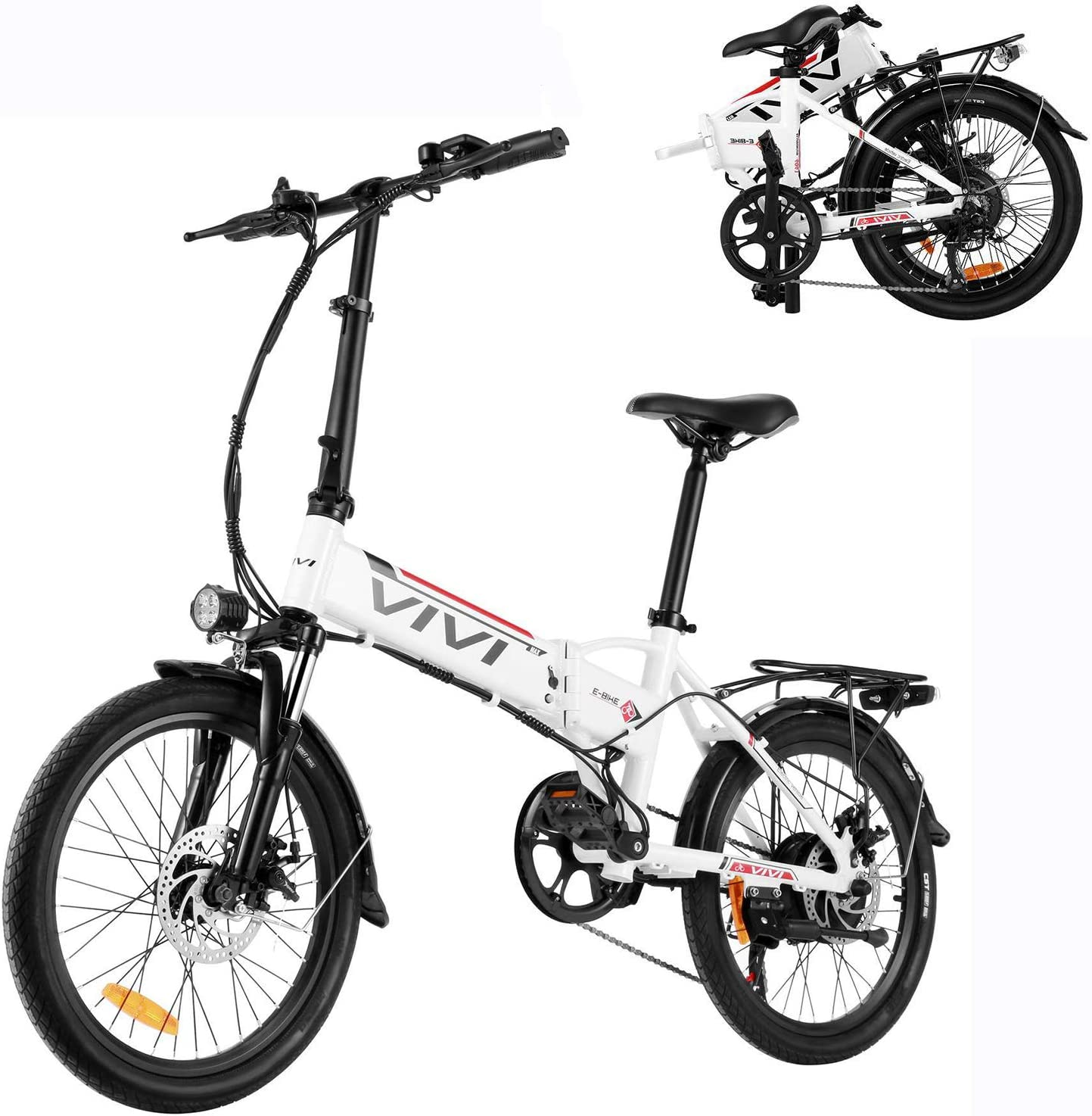 Vivi 20 Inch Electric 7-Speed Folding Assist Bike